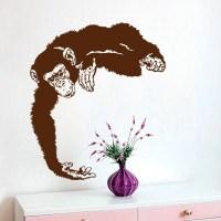 Monkey Wall Decals Chimpanzee Vinyl Decal by DecalMyHappyShop