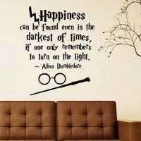 Harry Potter Wall Decal Quote Happiness Can Be by ...