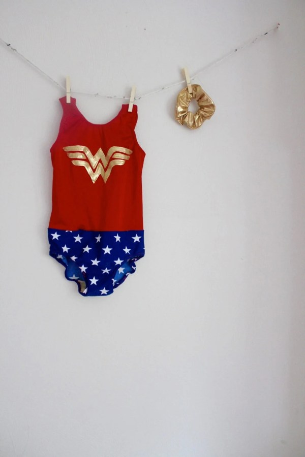 Wonder Woman Gymnastics Leotard Girls