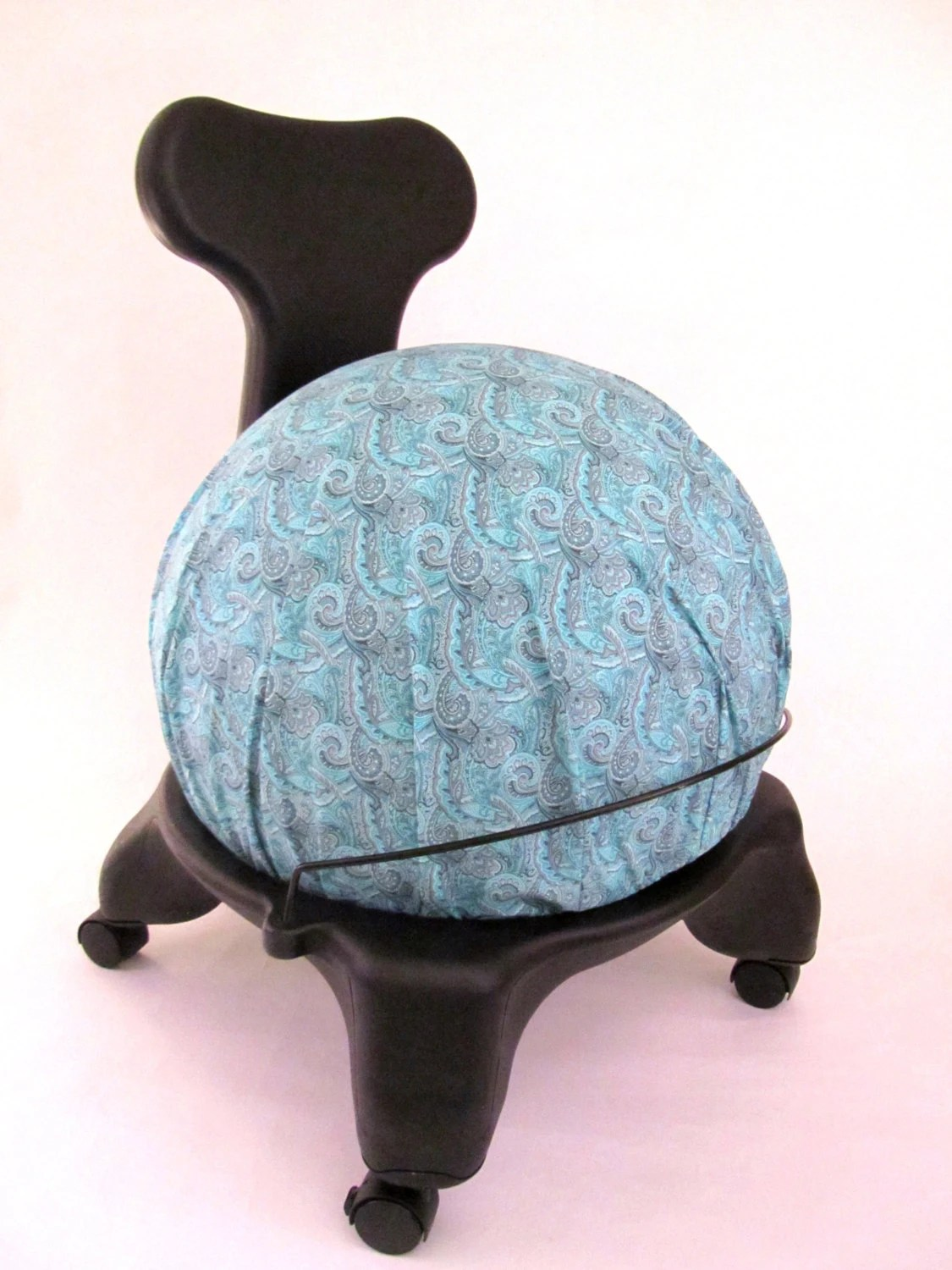 fitball balance ball chair barrel back exercise cover fits isokinetics by