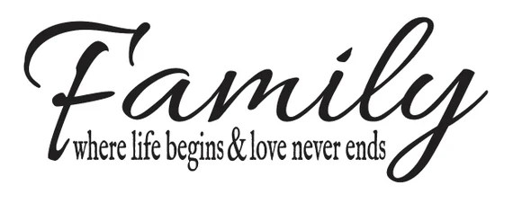Download Family STENCIL **Family where life begins and love never ...