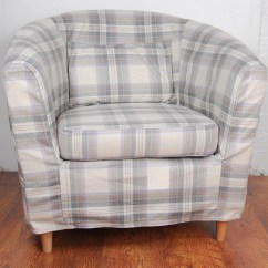 Ikea Tub Chair Covers Uk Heavy Duty Fishing Slip Cover For The Ektorp Tullsta Grey Tartan