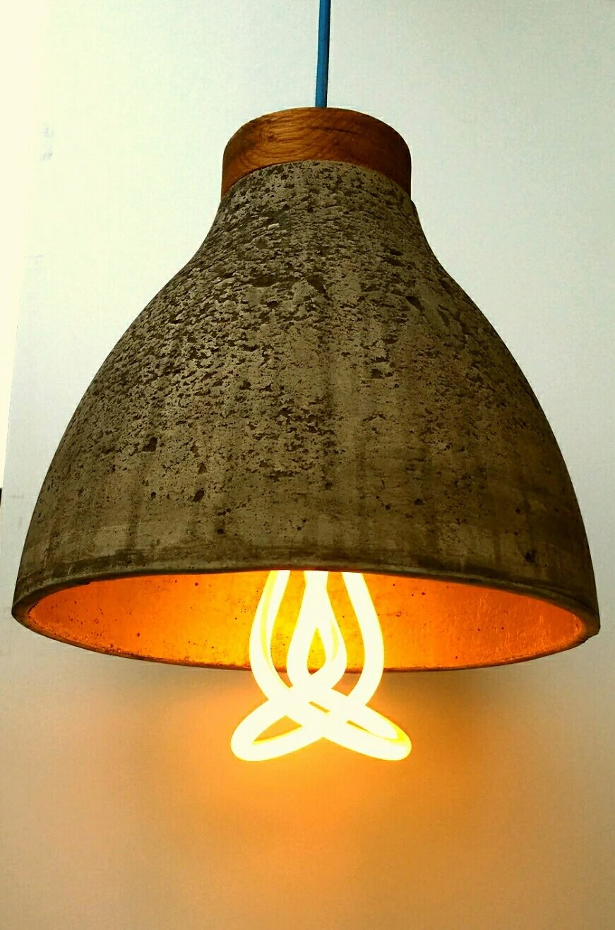 Concrete Pendant Light Shade Industrial Light Shade Ceiling