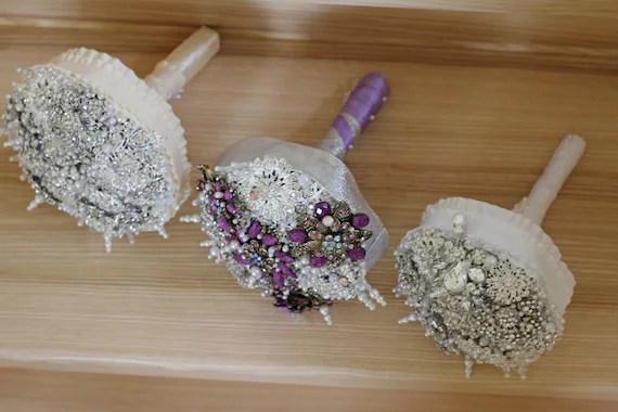 purple mix brooch bouquet, best weeding bouquet, best brooch bouquet, broach bouquets