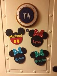 Disney Cruise Line Door Magnet // Mouse Door Magnet // Kids
