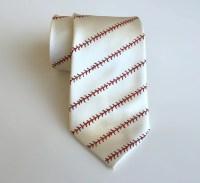Baseball necktie. Baseball stitching print men's tie.
