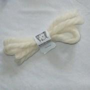 white yarn hair ribbons