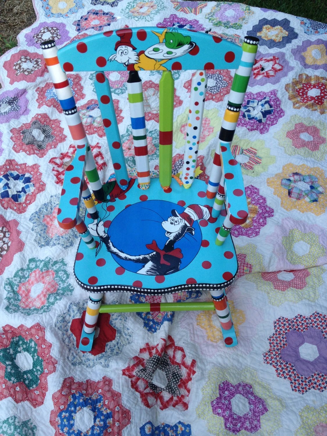 dr seuss chair black high rocking the cat in hat green eggs by