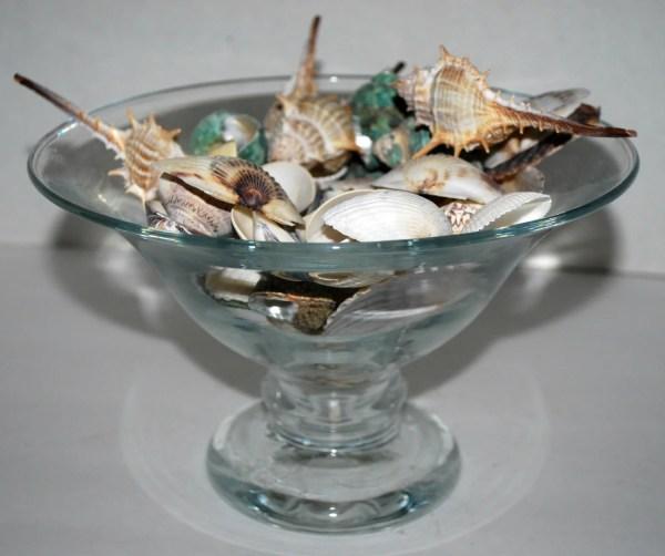 Blown Glass Bowl Pedestal Vintage Capecodgypsy