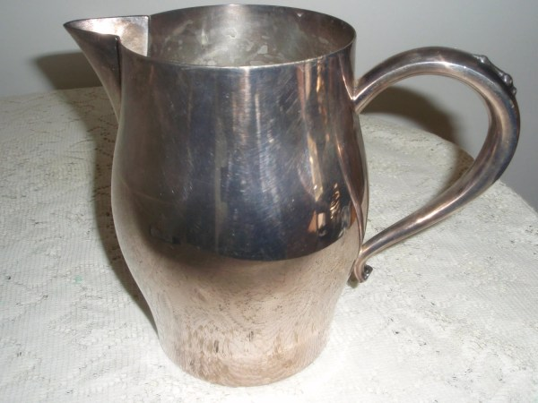 Water Pitcher Oneida Silver Plated Paul Revere