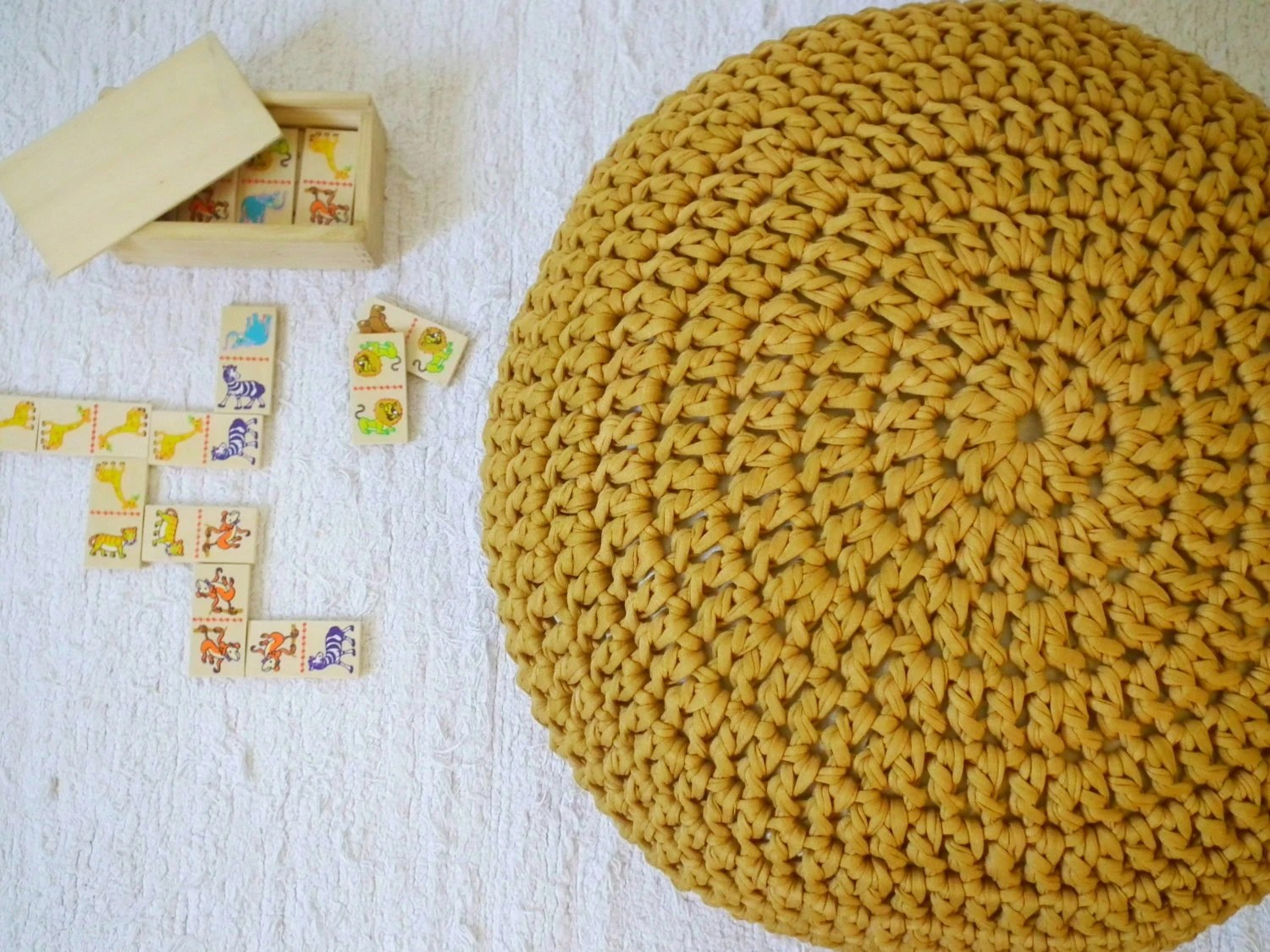 mustard yellow bean bag chair home depot chairs gold nursery footstool ottoman by loopinghome