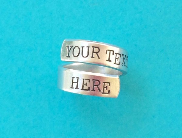 Personalized Ring Custom Hand Stamped Sturdy