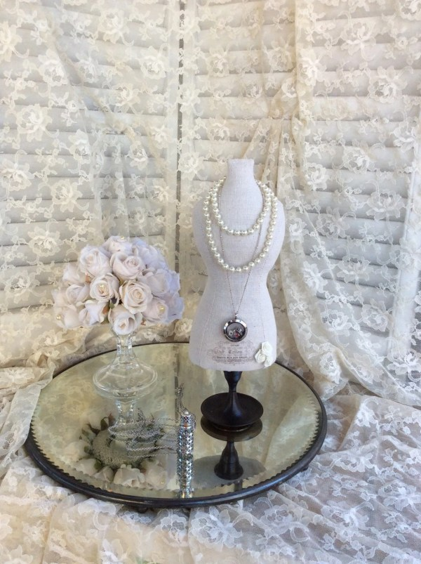 Necklace Display Mannequin Dress Form Jewelry Stand Fabric