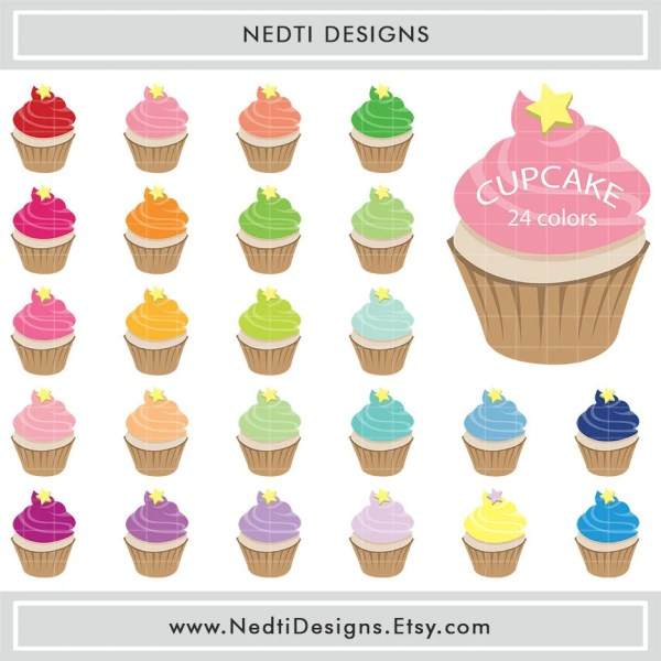 items similar 24 cupcakes clipart