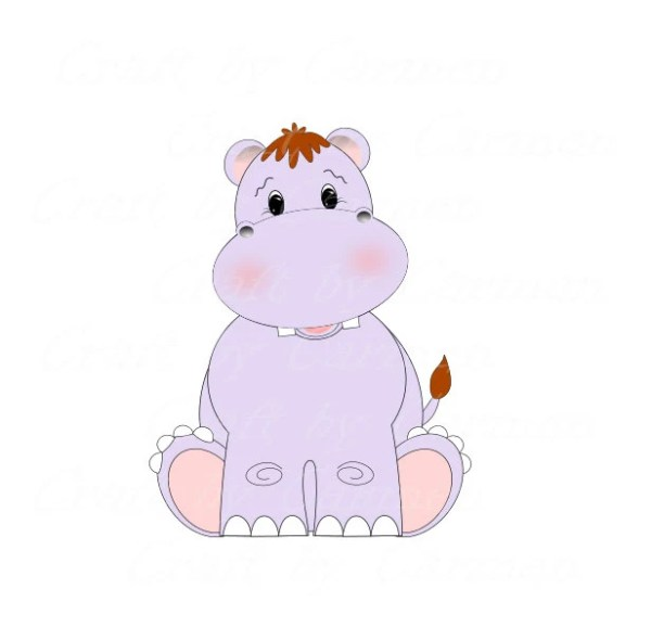 Hippopotamus clip art hippo cute hippo zoo safari by