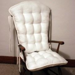Glider Chair Covers For Nursery Armless Custom Farmhouse White Rocking Cushion Set