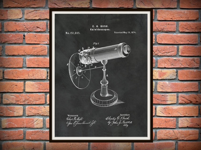 Patent Kaleidoscope Wall Art Print