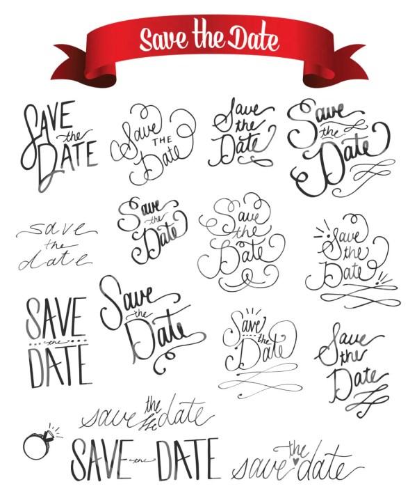wedding save date decorative