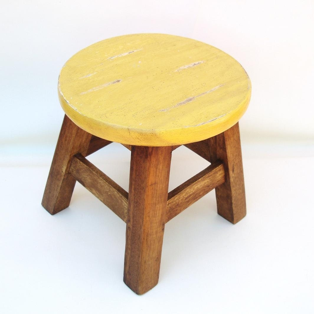 chair stools wooden office parts names vintage step stool round foot bench wood child