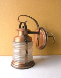 Underwriters Laboratories copper lantern wall sconce porch