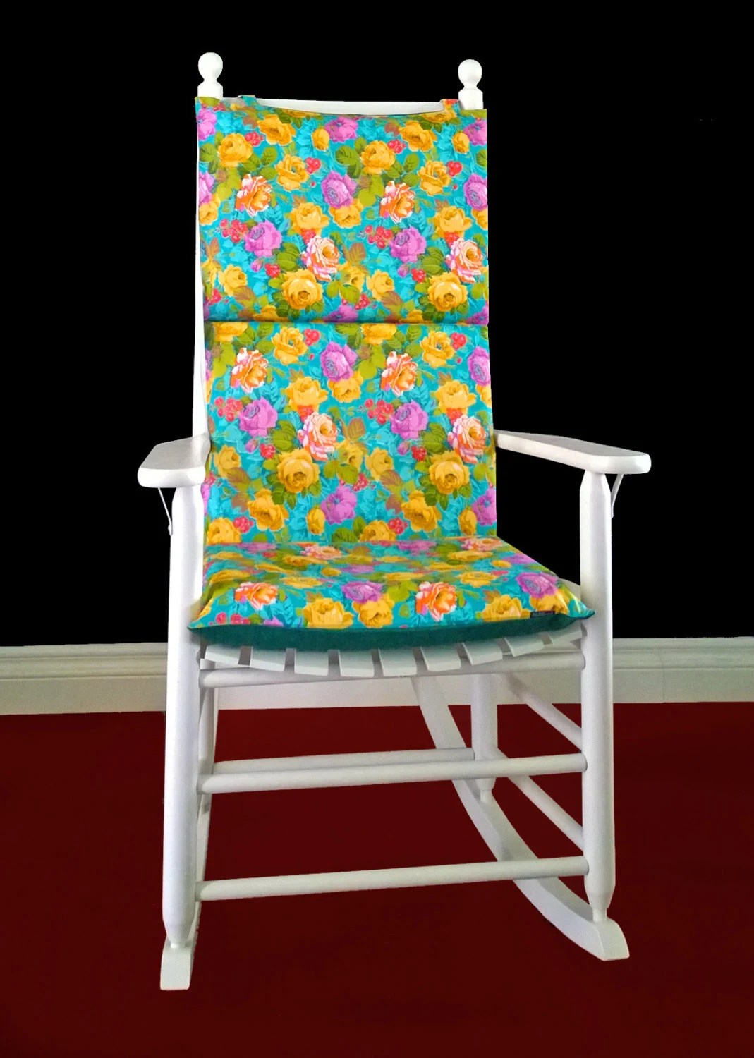 Pink Rocking Chair Cushions On Sale Rocking Chair Cushion Turquoise Floral By