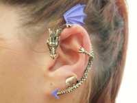 Purple ear cuff dragon earring by StylesBiju on Etsy