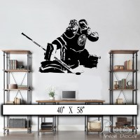 Hockey Goalie Wall Decal / Wall art vinyl sticker edmonton