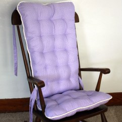 Replacement Glider Rocking Chair Cushions Kitchen Side Chairs Lotsa Dots Rocker