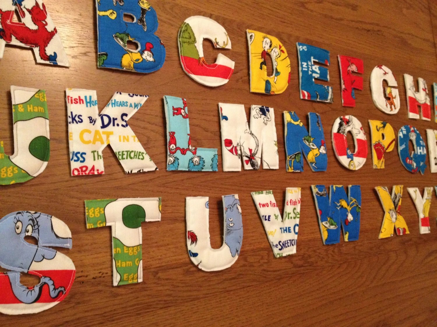Dr Seuss Fabric Alphabet Letters Quilted By Theeverydayjayne