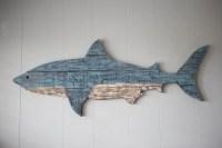 Shark Pallet Wood Wall Decor 41 Painted