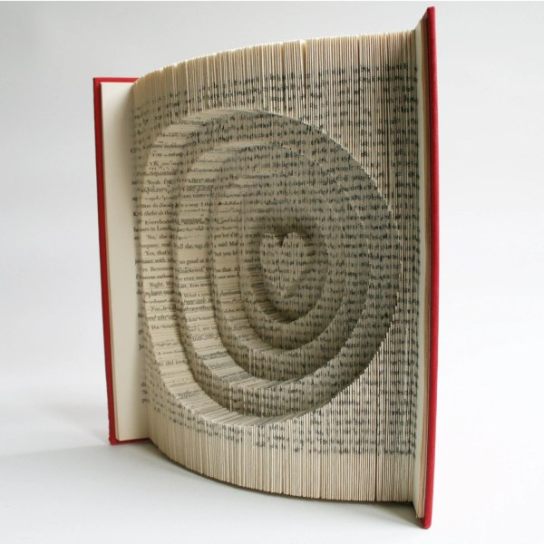 Book Folding Pattern Cuts Heart And Circles Free