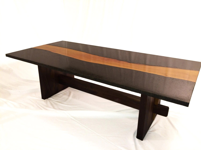 Live Edge Wood Amp Concrete Coffee Table Concrete Osage Orange