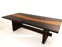 Live edge wood & concrete coffee table: concrete osage orange