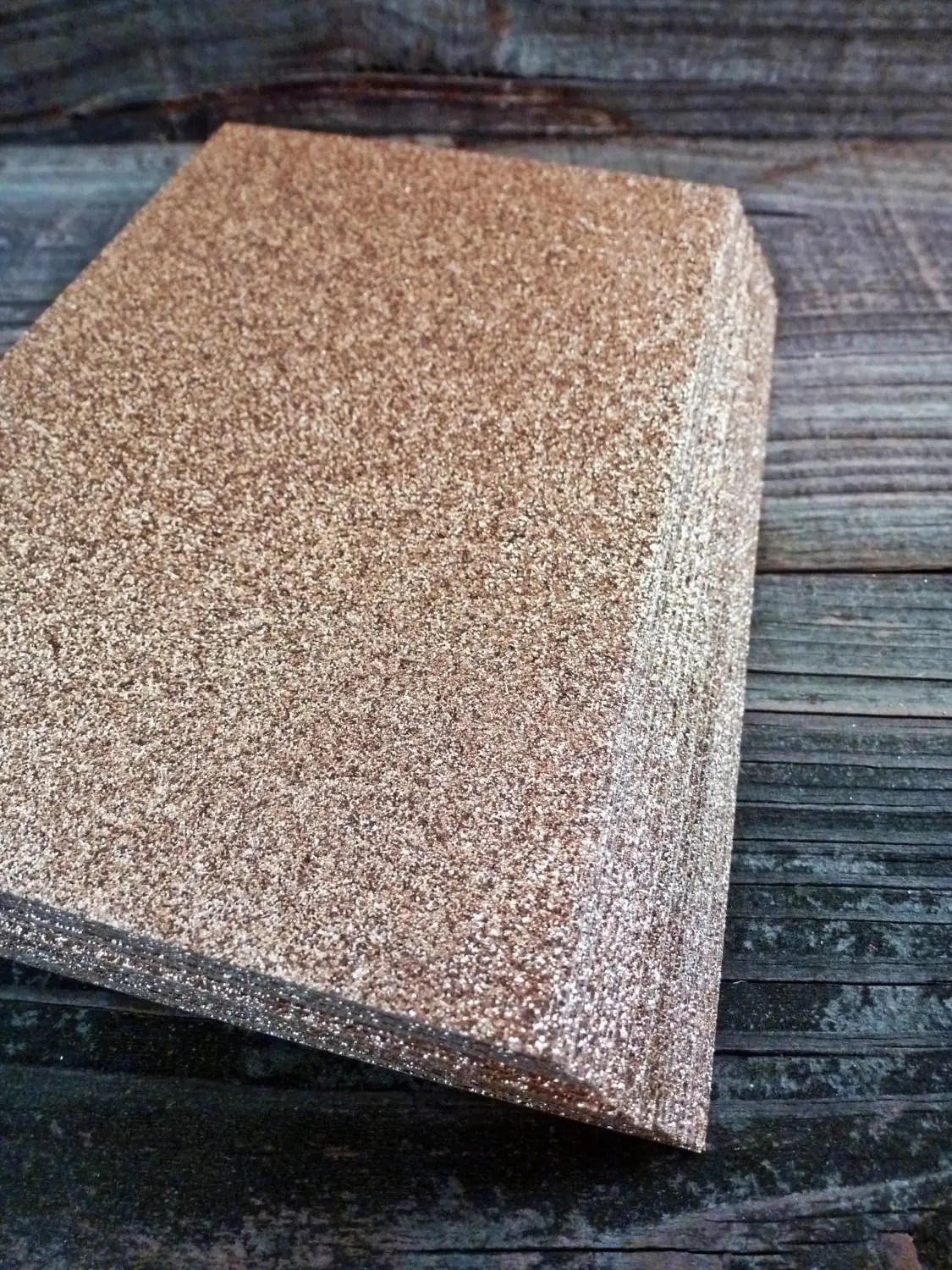 Rose Gold Glitter Notecards Blank One Sided Glitter Cardstock Invitations Wedding Shower