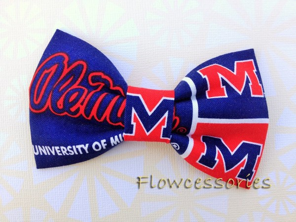 University Of Mississippi Ole Rebels Premade Bow Ties