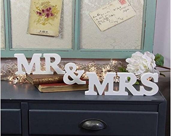 MR & MRS Wooden Letters Wedding Decoration / Present