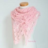Crochet shawl Pink shawl pink lace shawl lace crochet