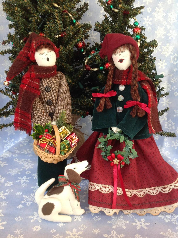 Little Girl Caroler Cloth Doll E Pattern 12in Victorian
