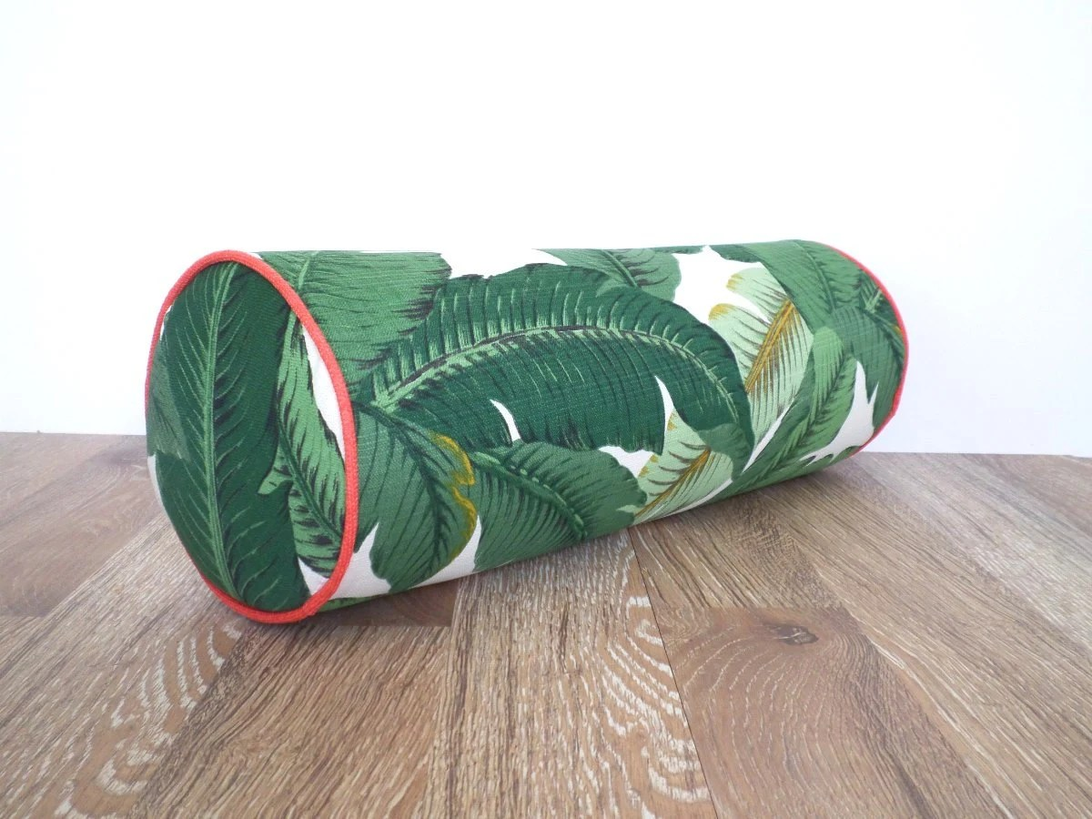Round bolster pillow 20x7 tropical outdoor bolster for lounge