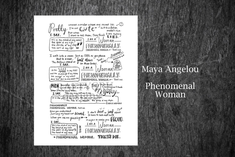 Maya Angelou Poem Phenomenal Woman Print Instant By Craftygru