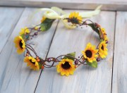 sunflower hair accessory hippie