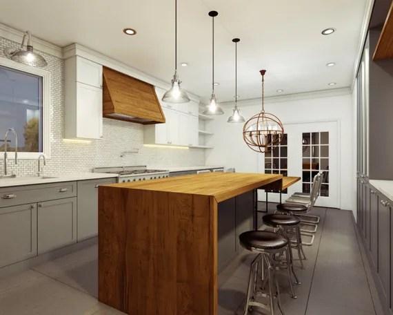 butcher block kitchen cart anaheim hotels with near disneyland live edge counter wood countertops slab island