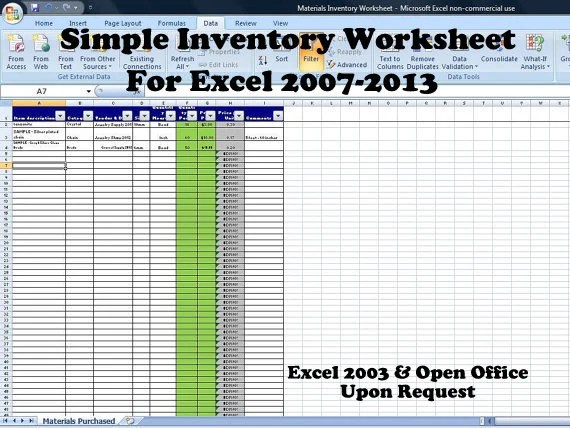 Simple Inventory Worksheet Vendor Price Comparison And