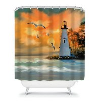 Top 28+ - Lighthouse Shower Curtain - painterly lighthouse ...