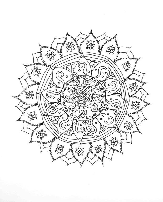 Mandala Coloring Page Relaxation Gift Adult by wordsremember