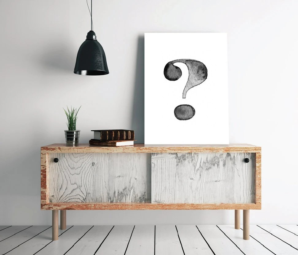 Question Mark Print Etsy