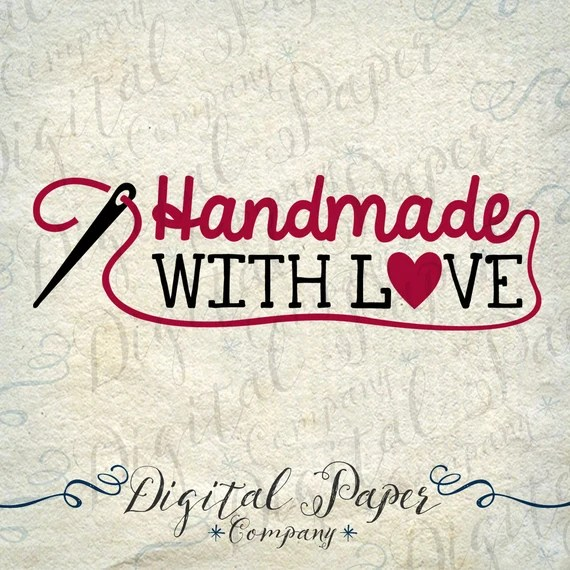 Download Handmade With Love Sewing Needle Heart PNG by ...