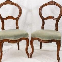 Vintage Vanity Chair Fishing Asda Pair Slipper Chairs Antique Boudoir