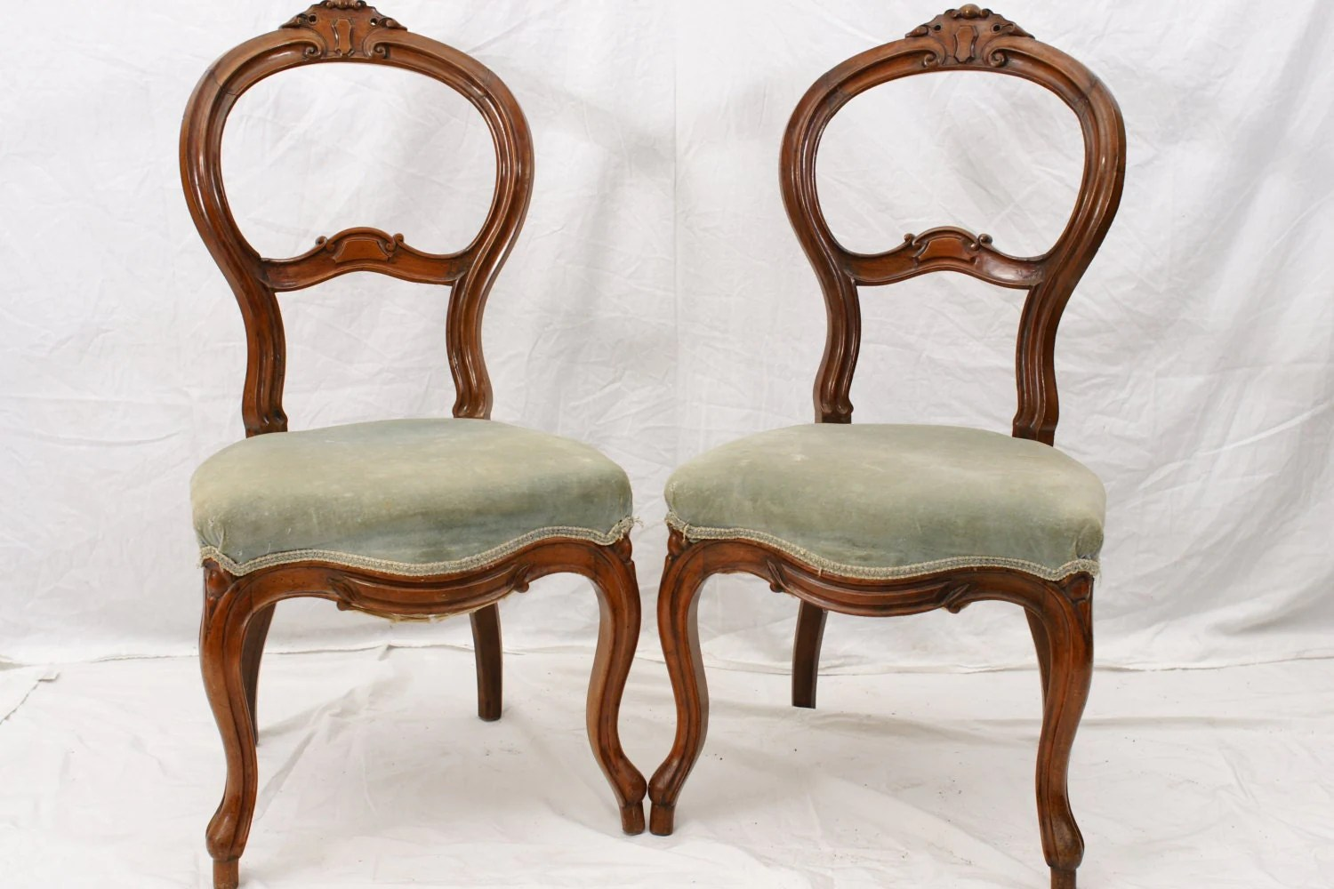 vanity chairs with back wing chair slip covers pair slipper antique boudoir