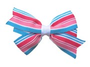 pink & blue hair bow